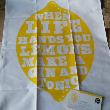 50% OFF If life hands you lemons tea towel